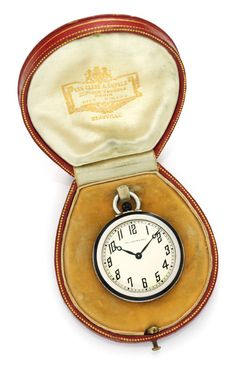 An Art Deco Platinum, Enamel and Diamond Pocket Watch by Van Cleef & Arpels, circa 1923. Available at FD Gallery. www.fd-inspired.com
