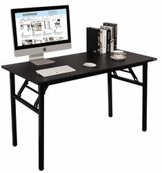 Need Computer Desk Office Desk 55 Folding Table Computer Table Workstation No Install Needed Black Brown Folding Computer Desk, Home Office Computer Desk, Computer Desk Chair, Pc Desk, Gaming Desk, Laptop Table, Home Desk, Office Table, Home Office Furniture