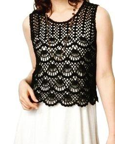 Fabulous Crochet a Little Black Crochet Dress Ideas. Georgeous Crochet a Little Black Crochet Dress Ideas. Crochet Bolero, Crochet Jacket, Crochet Cardigan, Crochet Stitches, Crochet Patterns, Crochet Woman, Love Crochet, Crochet Top, Crochet Pincushion