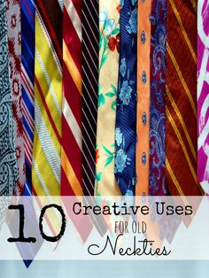 Try these creative uses for old neck ties.
