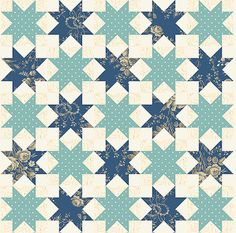 Simply Stellar Quilt Pattern - an eight-pointed star quilt