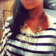 This stunning Cage Quartz Neck Adornment by @Heather Stuart Chrishabana is marvelously hip geometric piece is cast in brass and gold plated. US$ 195 after discount 'til July 31st! You know what to do. Online promo code for July: 'happysummer2013' #Staffpick #Chrishabana #NewYork #Geometric #statementpiece #statement #necklace #Goldplated #Brass #handcarved #mattegold #Unique #funky #HongKong #The9thMuse #Shopping #WorldWide #FreeShipping #Summer #Sale #Promocode #HappySummer2013