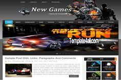 Blogger Templates - Dark Games Blogger Theme #blogger #games #bloggertemplates