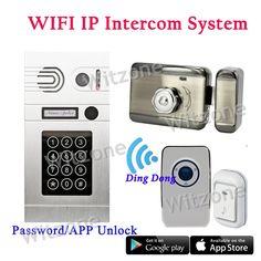 232.99$  Buy here - http://alieul.worldwells.pw/go.php?t=32699471575 - Wireless Video Door Phone Intercom System,1 Doorbell Camera+1 Mute Electronic Lock+1 Dingdong Doorchime+1 Doorbell Button 232.99$