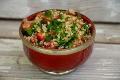 Véritable taboulé libanais (Liban) Middle Eastern Recipes, Salsa, Grains, Brunch, Rice, Ethnic Recipes, Food, Salads, Cooking Food