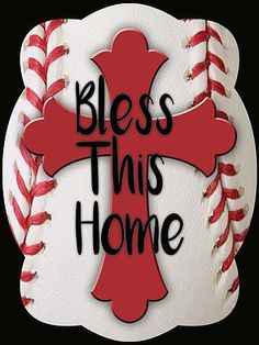 Cross On Baseball Background Door Hanger