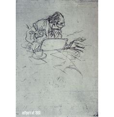 Gesture Drawing by Wilhelm M Busch.