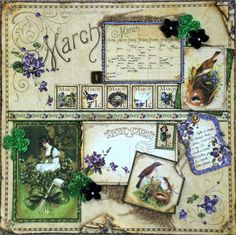 Place in Time Layout: March (2013) from DancinIrish90 on @Scrapbook.com gallery! #graphic45 #layouts