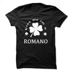Kiss me im a ROMANO - #baby tee #sweater nails. I WANT THIS => https://www.sunfrog.com/Names/Kiss-me-im-a-ROMANO-nmgjrqhniv.html?68278