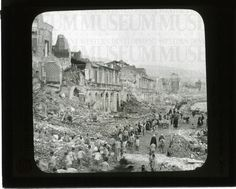 Water-front after the earthquake, Messina, Sicily | saskhistoryonline.ca