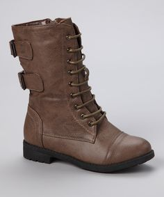 Take a look at this Lucky Top Cognac Utility Boot on zulily today! Type 3 girls boots
