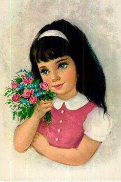 Portrait Photo, Vintage Postcards, Disney Characters, Fictional Characters, Snow White, Disney Princess, Photos, Girls, Art