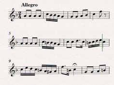 La Rosa de la Zarza. Partitura para flauta dulce. Schubert.