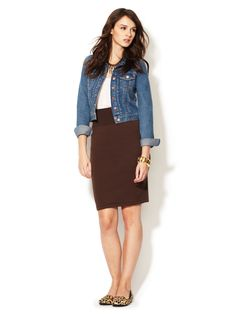 Interlock Pencil Skirt by American Apparel at Gilt