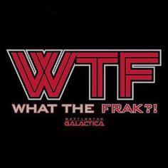 Battlestar Galactica WTF Black T-Shirt