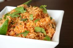 Mexican Rice- a bird in the kitchen