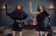 LANVIN Fall 2011 Campaign Photo・Steven Meisel Model・ Karen Elson, Raquel Zimmermann & Alber Elbas