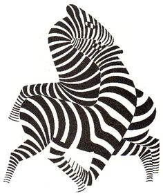 'Zebras', 1943 by Victor Vasarely (1906-1997, Hungary)