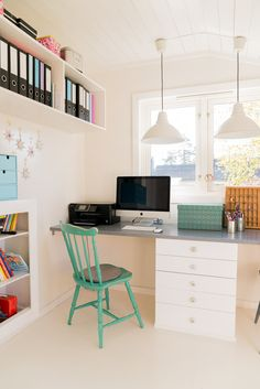 Simple and clean office. #laylagrayce #office