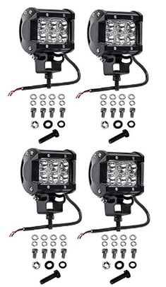 Find the best prices on Cutequeen 4 X 1800 Lumens Cree LED Spot Light for Off-road SUV Boat Jeep Lamp Tractor Marine Off-road Lighting Rv Atv(pack of and save money. Tractor Lights, Off Road Rv, Rear View Mirror Camera, Tractor Accessories, Trailer Interior, Jeep 4x4, Bike Life, Offroad, Tractors