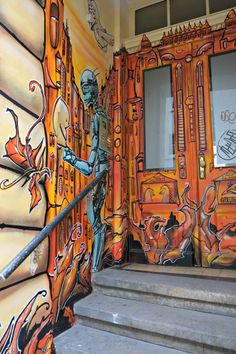 Dresden Neustadt in Germany is heaven for lovers of street art. You can spot graffiti and more in practically every street there!