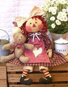 Raggedy Ann * Sweet Teddy Bear