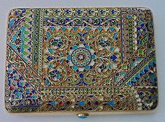Antique Russian Cloisonne Box