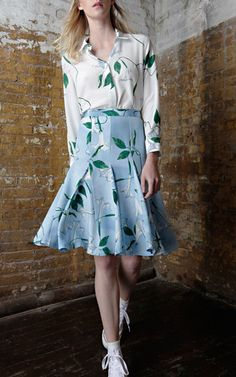 Isolda Spring/Summer 2015 Trunkshow Look 16 on Moda Operandi Spring Summer 2015, Beautiful Outfits, Wrap Dress, Stylish, My Style, Florals, How To Wear, Toe, Costumes