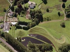 The Garden of Cosmic Speculation is at Portrack House, near Dumfries in South West Scotland. It is a private garden created by Charles Jencks.