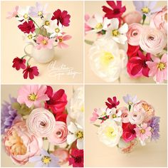 8Christine paper design - paper flowers, cosmos, diy paper flowers centerpiece