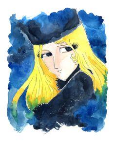 Maetel - Portrait à l'aquarelle (impression d'art)