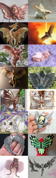 Wing Ding Thing by Tina Feldman on Etsy--Pinned with TreasuryPin.com