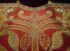 Detail of the coronation mantle of Roger II of Sicily