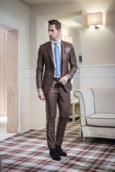 Sartoria Rossi. Brown tuxedo for groom-to-be