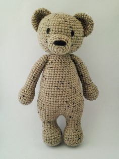 Handmade Crochet Brown Teddy Bear Amigurumi by ElaMakrelaCrochet