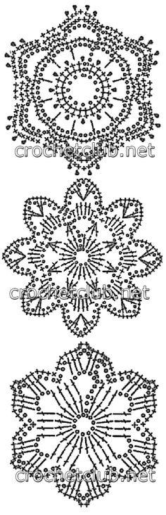 Snowflakes crochet charts...
