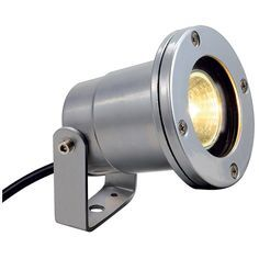 SLV 227500 NAUTILUS IP67 Outdoor Ceiling, Wall & Ground Spotlight in Silver Grey