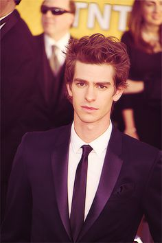 Andrew Garfield <3 - Amazing actor, and I'm not talking Spiderman but Boy A and Never Let Me Go :)