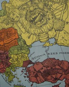 Satirical maps of the Great War, 1914-1915
