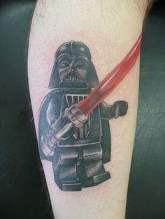Lego Star Wars Darth Vader Tattoo - Dan Stone http://inkchill.com/lego-star-wars-darth-vader-tattoo/ #lego #starwars #tattoo #vader