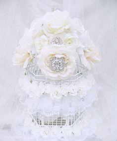 Beautiful Bejeweled Bridal Bird Cage