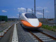 Shinkansen 700T train head at Kaohsiung depot, Taiwan