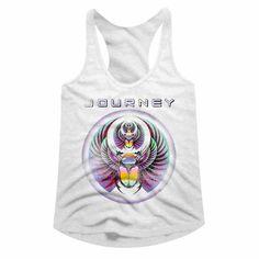 Journey Best of Album Cover Womens Tank Top Beetle Planet Scarab Rock Racerback