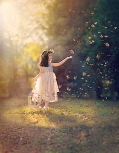 """Butterly Princess... - Little three year old girl acting out a Fairy Tale :) <a href=""""https://www.facebook.com/pages/Broquart-Photography/374405426079137?ref=aymt_homepage_panel/"""" target=""""_balnk""""> 