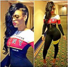 I love Keyshia Ka'oir's body!!!!!! Wish I had those hips!