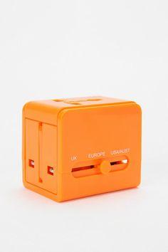orange Universal Travel Adapter  #UrbanOutfitters