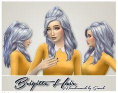 Brigitte Hair frankenmesh by Grouchy Old Sims at SimsWorkshop via Sims 4 Updates