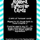 Algebra Turn Over Cards are a great individual or partner activity to practice basic algebra skills. They also make a wonderful early finisher acti...