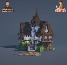 Casa Medieval Minecraft, Minecraft Castle, Cute Minecraft Houses, Minecraft Room, Minecraft Plans, Minecraft House Designs, Minecraft Survival, Amazing Minecraft, Minecraft Tutorial