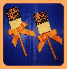 halloween rice crisp | Halloween Classroom Party Food for Hungry Kids « Halloween Party ...
